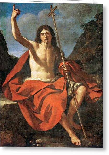 John The Baptist Greeting Card by Guercino