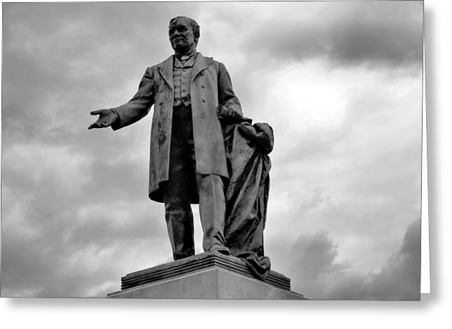 John W Thomas Statue Greeting Card by Dan Sproul