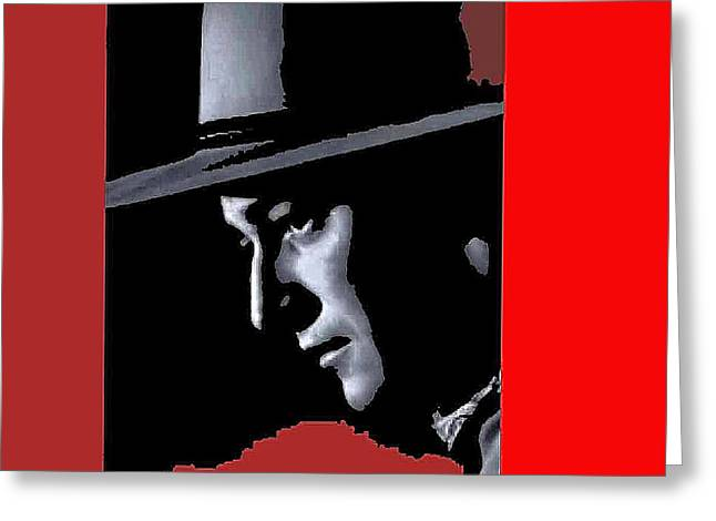 Greeting Card featuring the photograph John Wayne As The Ringo Kid Stagecoach 1939-2013 by David Lee Guss