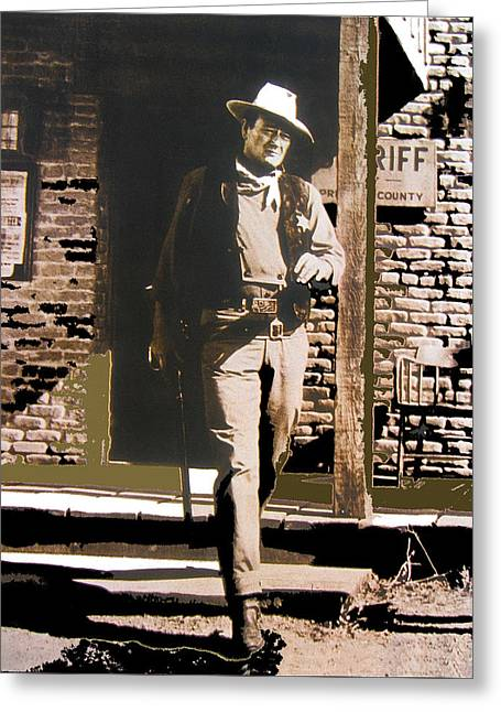 John Wayne Exciting The Sheriff's Office Rio Bravo Set Old Tucson Arizona 1959-2013 Greeting Card by David Lee Guss