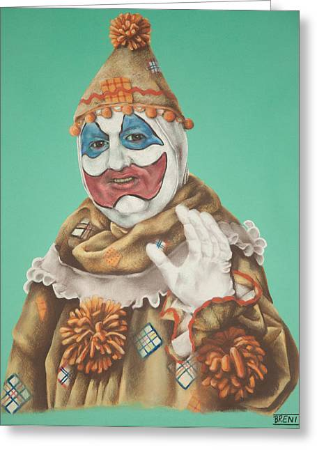John Wayne Gacy As Pogo The Clown Greeting Card