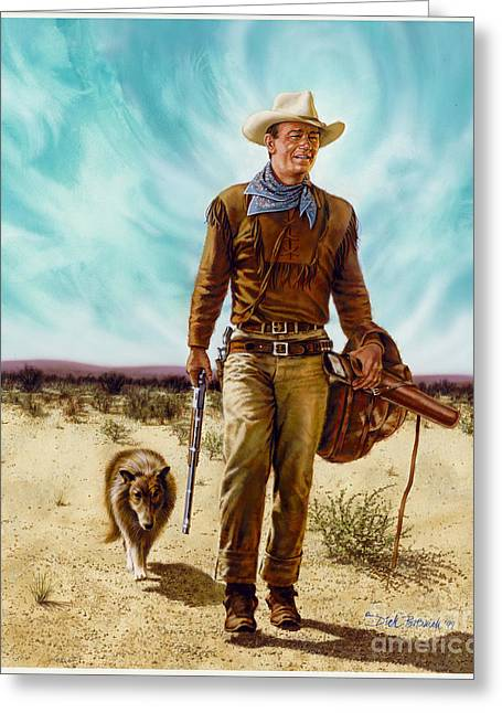 John Wayne Hondo Greeting Card