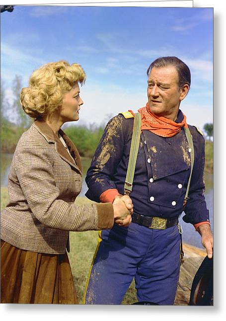 John Wayne In The Horse Soldiers Greeting Card