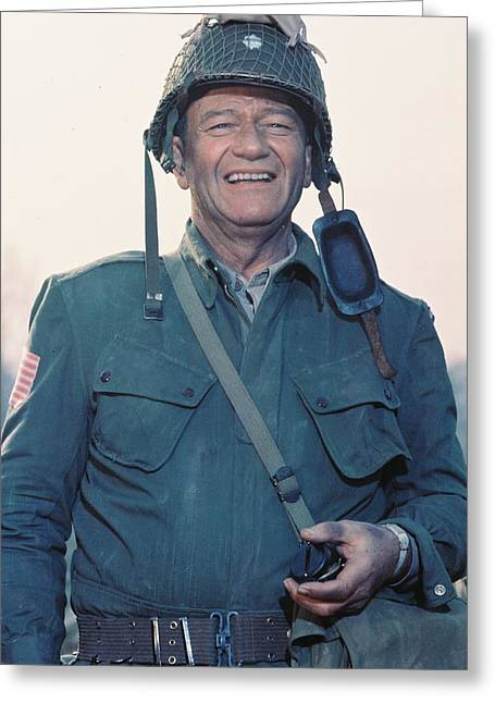 John Wayne In The Longest Day Greeting Card by Silver Screen