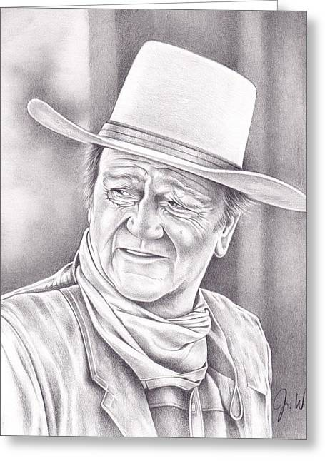 John Wayne Greeting Card by Jamie Warkentin