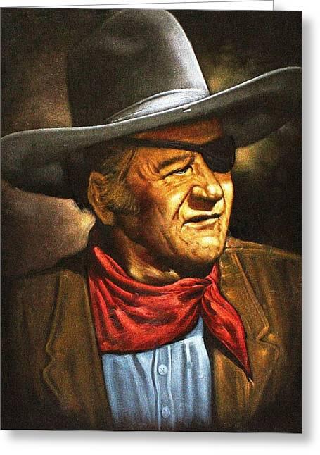 John Wayne Greeting Card by Larry Stolle