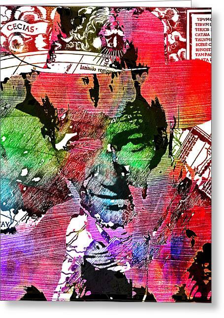 John Wayne Unmasked - Collage Greeting Card