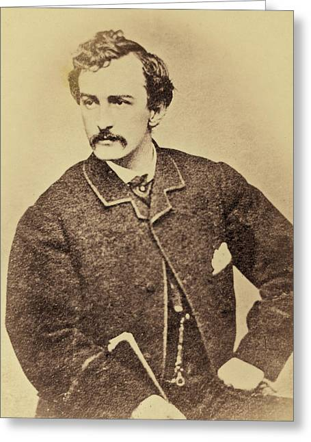John Wilkes Booth, American Assassin Greeting Card by Science Source