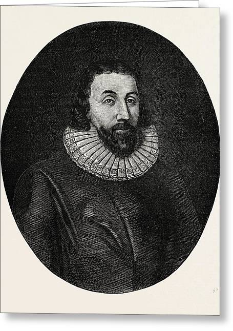 John Winthrop Was A Wealthy English Puritan Lawyer And One Greeting Card by English School