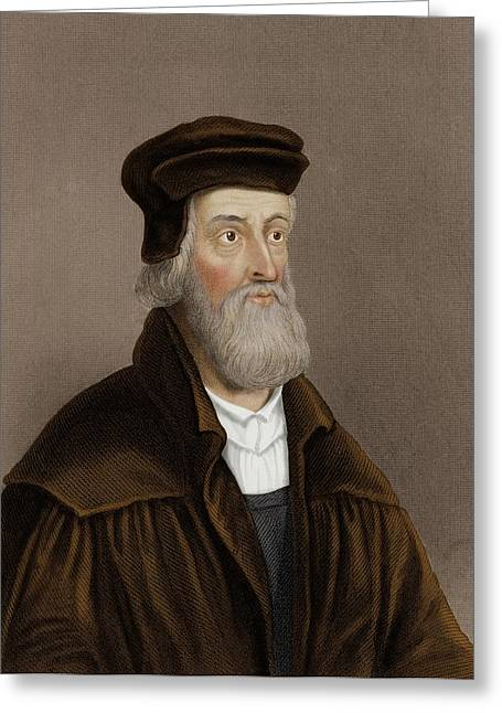 John Wycliffe Greeting Card by Maria Platt-evans