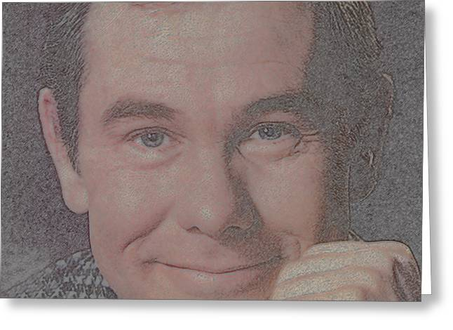 Johnny Carson Greeting Card by Douglas Settle