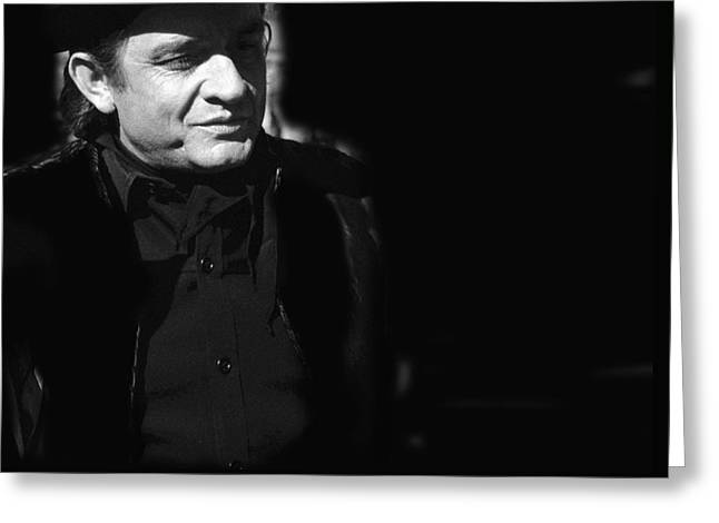Greeting Card featuring the photograph Johnny Cash Film Noir Homage Old Tucson Arizona 1971 by David Lee Guss