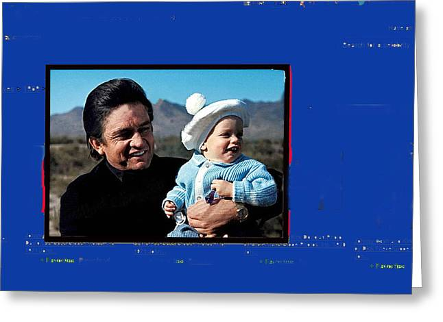 Greeting Card featuring the photograph Johnny Cash John Carter Cash Old Tucson Arizona 1971 by David Lee Guss
