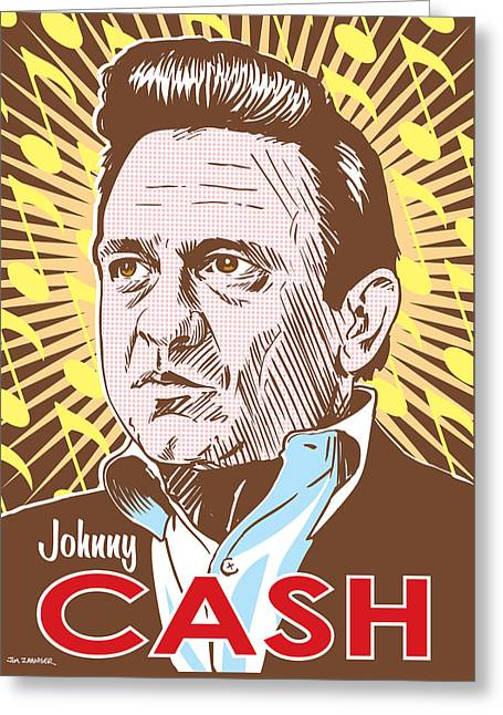 Johnny Cash Pop Art Greeting Card