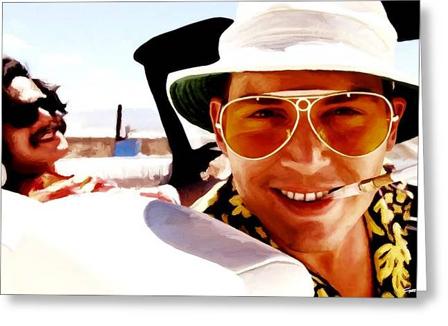 Johnny Depp @ Fear And Loathing In Las Vegas Greeting Card