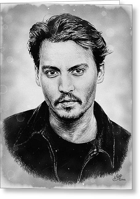 Johnny Depp Stained Greeting Card