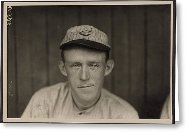 Johnny Evers Of Chicago Cubs Greeting Card