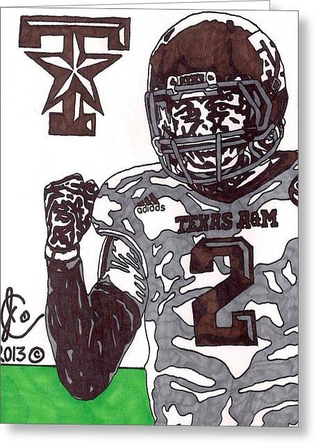 Johnny Manziel 9 Greeting Card by Jeremiah Colley