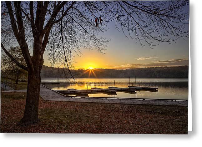 Johnson Lake Sunrise Greeting Card