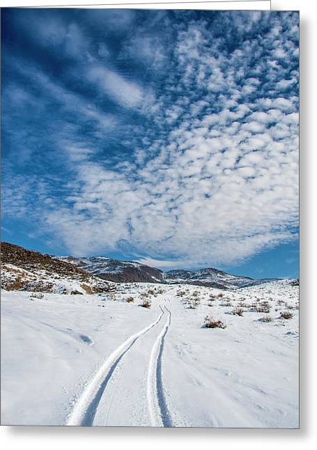 Johnson Valley With Snow, California Greeting Card