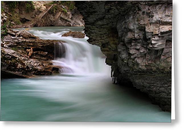 Johnston Falls, Banff National Park Greeting Card by Panoramic Images