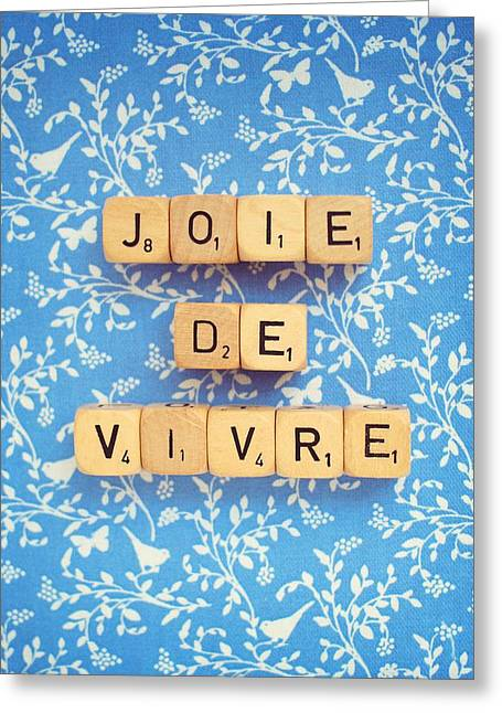 Joie De Vivre Greeting Card by Mable Tan