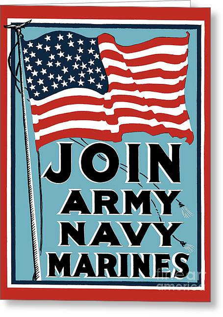 Join Army Navy Marines Greeting Card