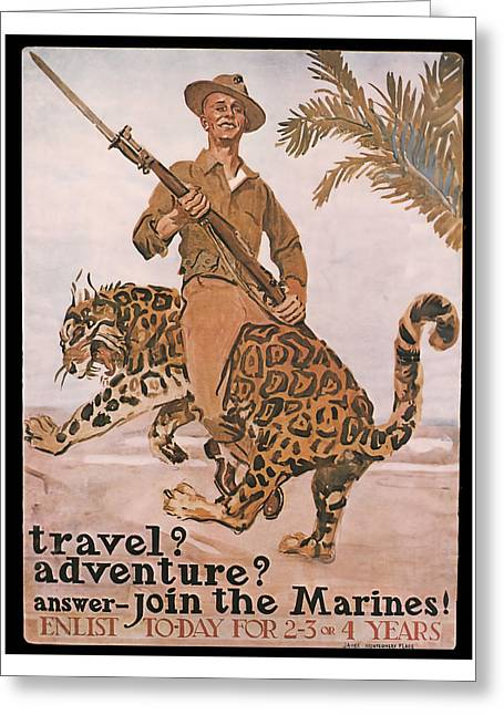 Join The Marines Greeting Card by presented by American Classic Art