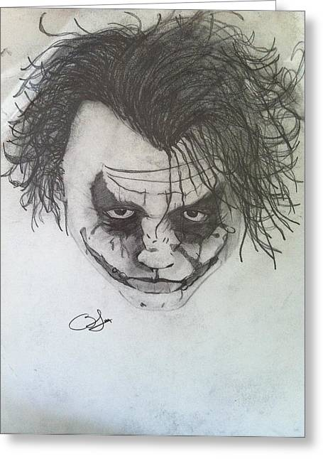 Joker Greeting Card by Blake Mcmillon