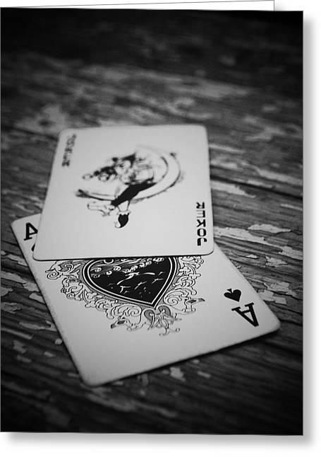 Joker Greeting Card by Diaae Bakri