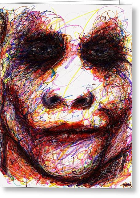 Joker - Eyes Greeting Card