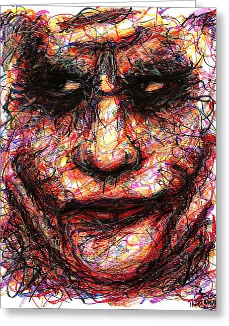 Joker - Face II Greeting Card