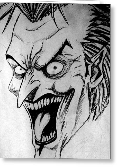 Joker Greeting Card by Salman Ravish