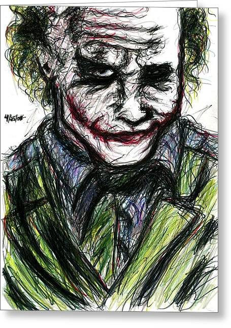 Joker - Smirk Greeting Card