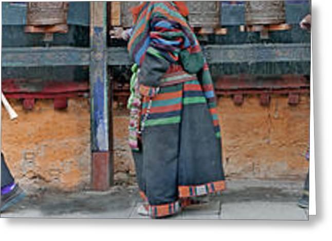 Jokhang Pilgrims Greeting Card