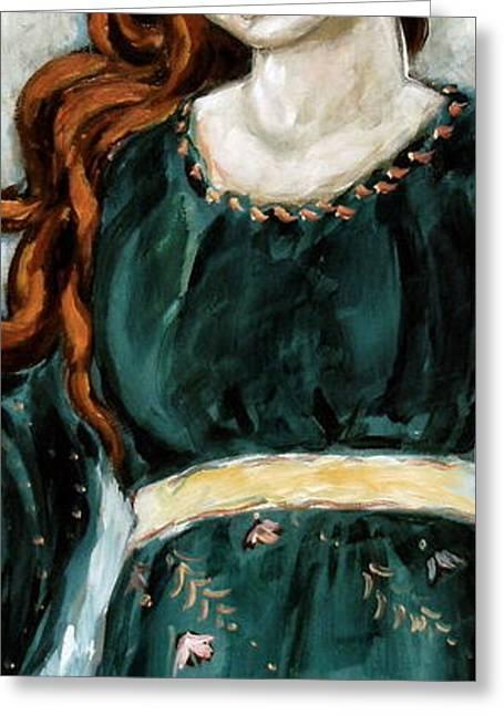 Jolene Greeting Card by Carrie Joy Byrnes