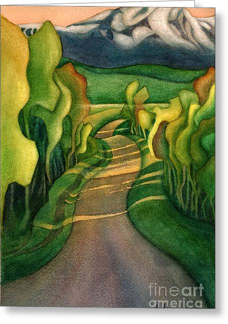 Jollymore Road Greeting Card by Anne Havard