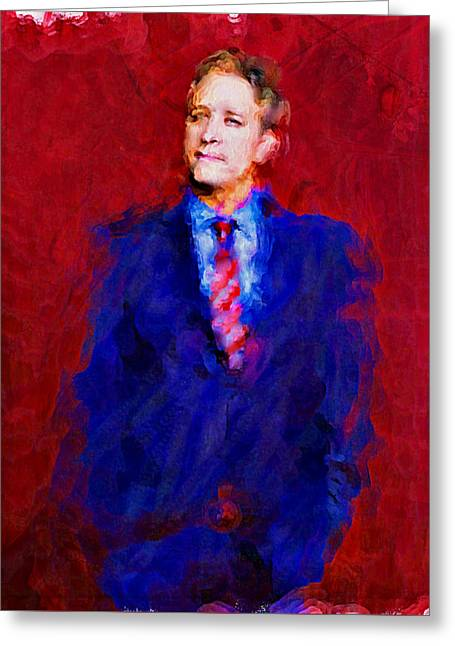 Jon Stewart Greeting Card by Janice MacLellan
