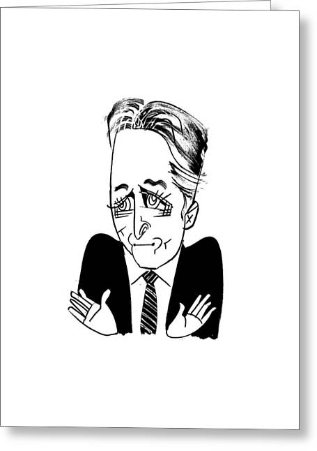 Jon Stewart Greeting Card by Tom Bachtell