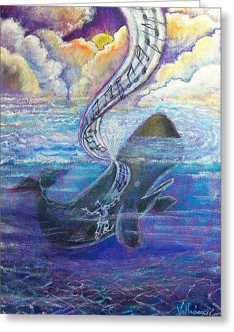 Jonah's Turning Point Greeting Card by Maria Valladarez
