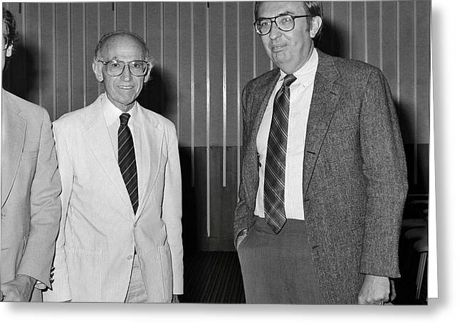 Jonas Salk And Frederick Murphy Greeting Card by Cdc