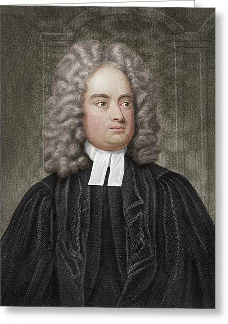 Jonathan Swift Greeting Card by Maria Platt-evans