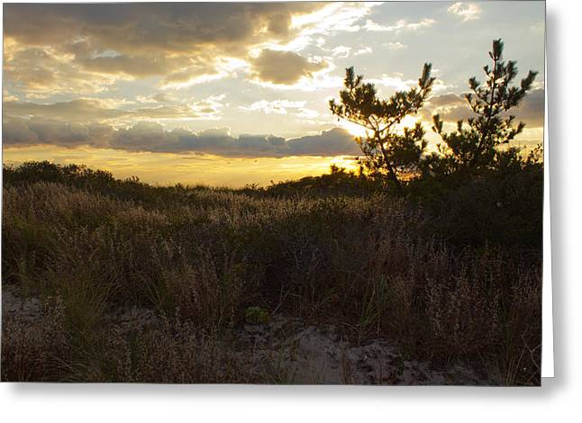Greeting Card featuring the photograph Jones Beach Sunset Four by Jose Oquendo
