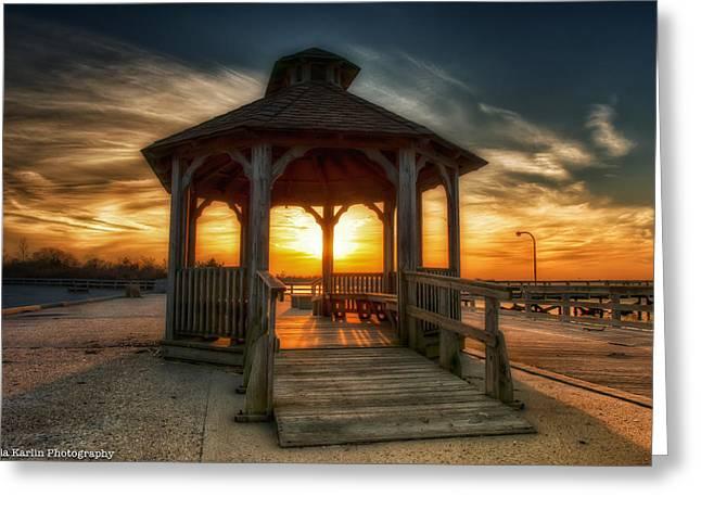 Greeting Card featuring the photograph Jones Beach Sunset On Long Island New York by Linda Karlin