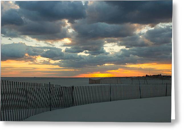 Greeting Card featuring the photograph Jones Beach Sunset Three by Jose Oquendo