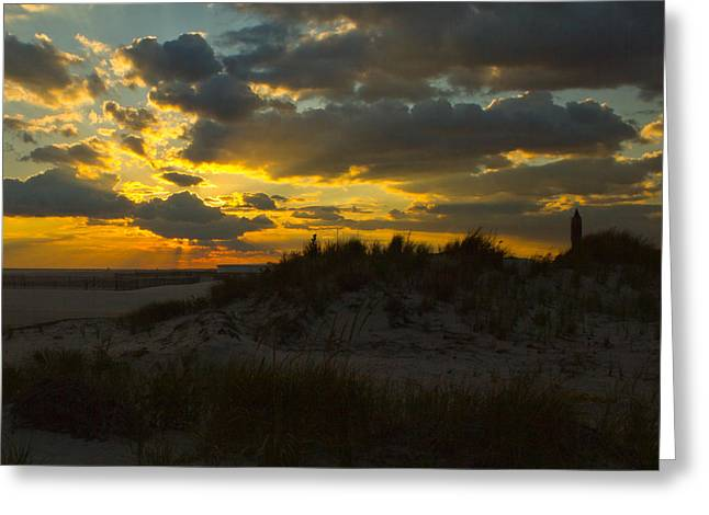 Greeting Card featuring the photograph Jones Beach Sunset Two by Jose Oquendo