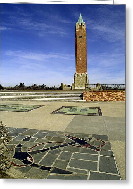 Jones Beach Tower And Anchor New York Greeting Card