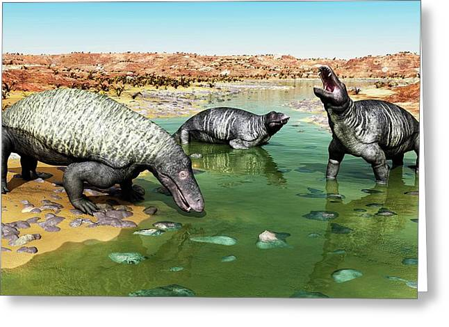 Jonkeria Therapsids Greeting Card by Walter Myers