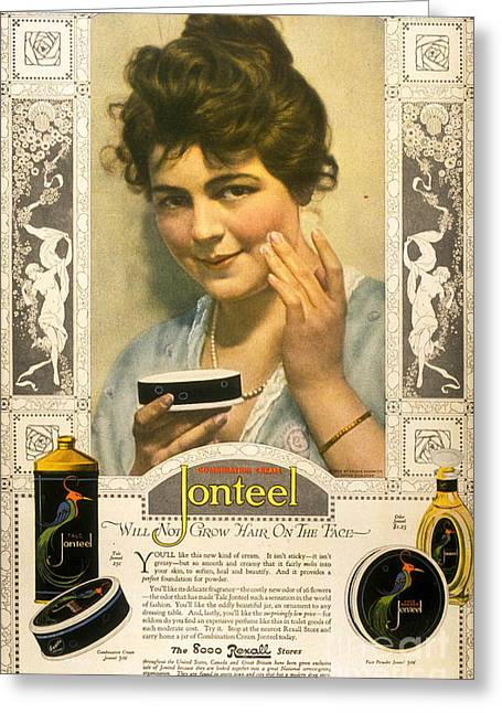 Jonteel 1900s Usa Face Cream Greeting Card by The Advertising Archives