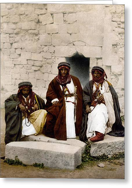 Jordan Bedouins, C1895 Greeting Card